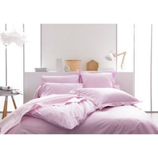 Parure de lit Poudre de lila - 100% coton - 220 x 240 cm - Rose