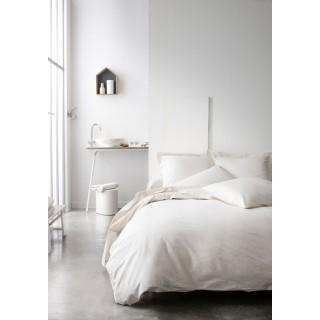 Parure de lit - 100% coton - 220 x 240 cm - Ivoire