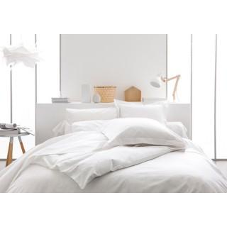 Parure de lit Chantilly - 100% coton - 240 x 260 cm - Blanc