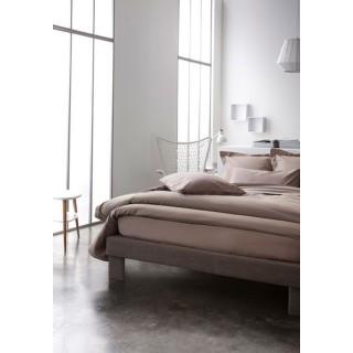 Parure de lit Mastic - 100% coton - 240 x 260 cm - Taupe