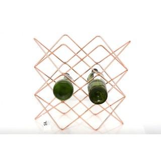 Range bouteille en métal filaire Copper - L. 38 x H. 36 cm - Couleur cuivré