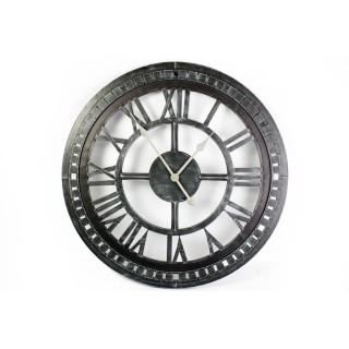 Horloge murale en métal Antan - Diam. 68 cm - Noir