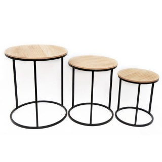 3 Tables gigognes industrielle Ela