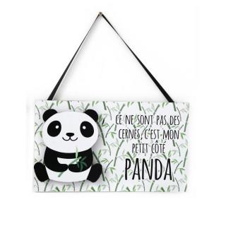 Plaque murale LED enfant Panda - L. 34 x H. 28 cm - Panda