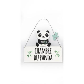 Plaque murale enfant Panda - L. 20 x H. 16 cm - Chambre du Panda