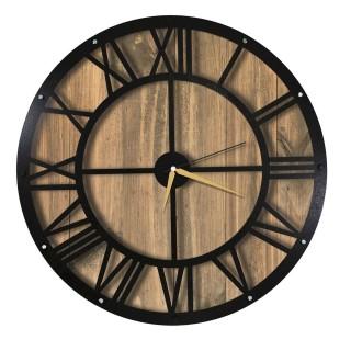 Horloge murale en métal Wall - Diam. 50 cm - Marron