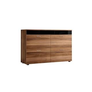 Buffet design Bruges - L. 100 x H. 75 cm - Marron noix