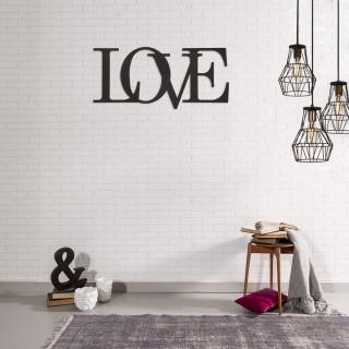 Décoration murale en métal - L. 50 x H. 20 cm - Love