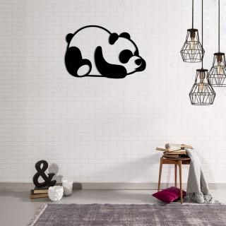 Décoration murale en métal - L. 50 x H. 35 cm - Panda
