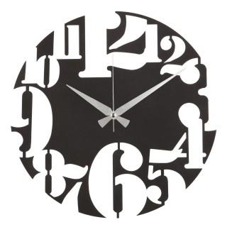 Horloge murale en métal Uno - Diam. 50 cm - Noir