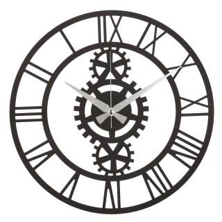 Horloge murale en métal Indus - Diam. 50 cm - Noir