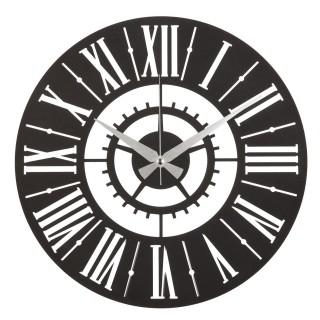 Horloge murale en métal Mania - Diam. 50 cm - Noir