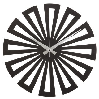Horloge murale en métal Sun - Diam. 50 cm - Noir
