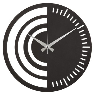 Horloge murale en métal Demi - Diam. 50 cm - Noir