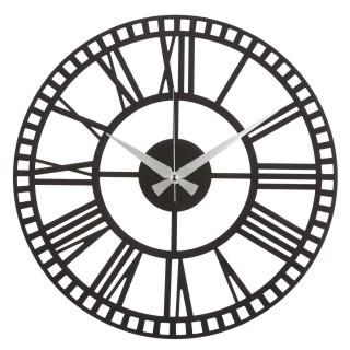 Horloge murale en métal Art - Diam. 50 cm - Noir
