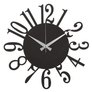 Horloge murale en métal Twelve - Diam. 50 cm - Noir