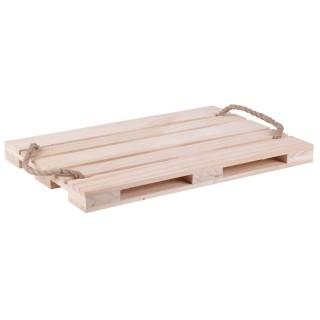 Plateau de présentation en bois Palette - L. 38 x l. 28 cm