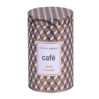 Boîte à café Organique - Diam. 10 x H. 18 cm - Gris