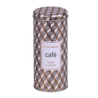 Boîte à café Organique - Diam. 7 x H. 17 cm - Gris