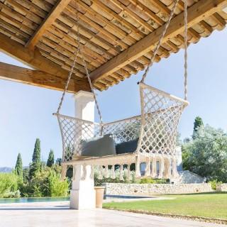 Fauteuil de jardin suspendu Plumaya - 2 Places - Macramé - Blanc