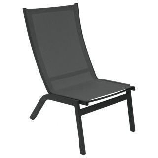 Chaise relax de jardin Forro - Gris anthracite