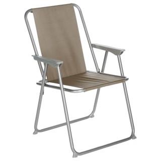 Chaise de camping Grecia - Pliable - Taupe