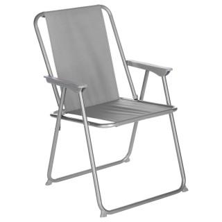 Chaise de camping Grecia - Pliable - Grise