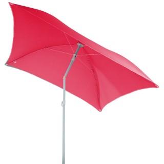 Parasol de plage carré Hélenie - L. 180 x l. 180 cm - Rose framboise