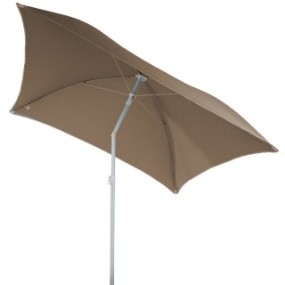 Parasol de plage carré Hélenie - L. 180 x l. 180 cm - Taupe