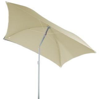 Parasol de plage carré Hélenie - L. 180 x l. 180 cm - Marron sable