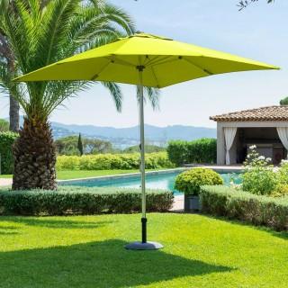 Parasol droit carré Ibaia - 250 x 250 cm - Vert pistache