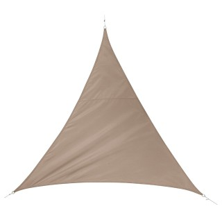 Voile d'ombrage triangulaire Quito - L. 500 cm - Taupe