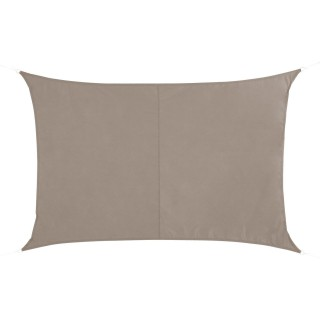 Voile d'ombrage rectangulaire Quito - L. 400 x l. 300 cm - Taupe