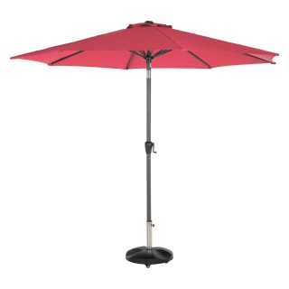 Parasol droit rond Fidji - Inclinable - Diam. 295 cm - Rouge marsala
