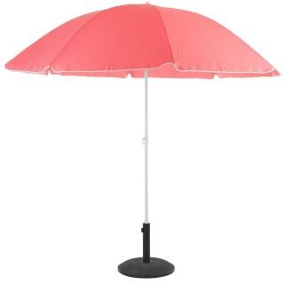 Parasol de plage rond Ardéa - Diam. 240 cm - Rose framboise