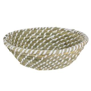Corbeille tressée Bord de mer - Diam. 25 cm - Blanc