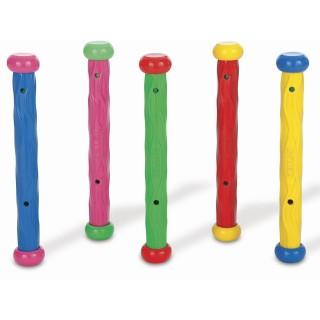 5 Bâtons lestés pour piscines - Multicolore