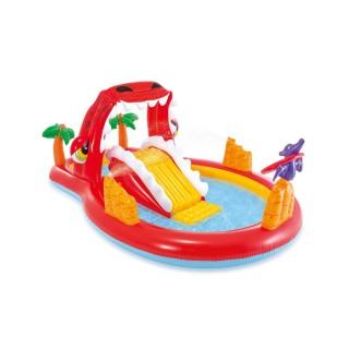 Parc de jeu gonflable Dinoland- L. 259 x l. 165 cm - Rouge