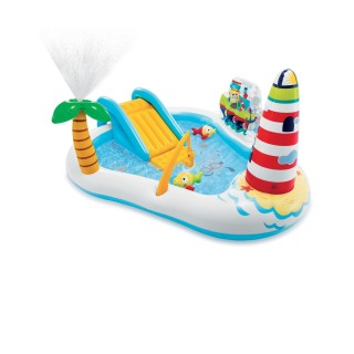Parc de jeu gonflable Sea Paradise - L. 218 x l. 188 cm - Blanc