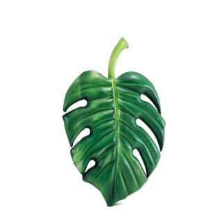 Matelas gonflable feuille Tropicale - L. 213 cm