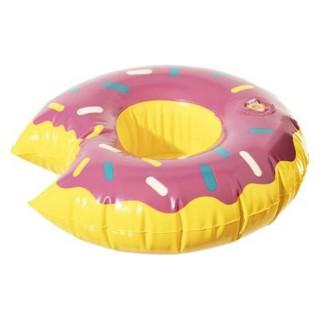 Porte gobelet gonflable Donut - Diam. 17 cm - Rose