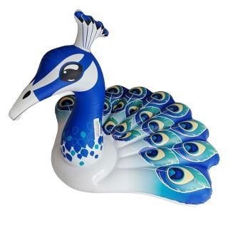 Bouée gonflable Paon - L. 150 cm - Bleu