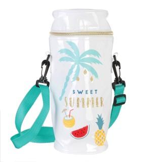 Sac fraîcheur isotherme pour bouteille Sweet Summer - Blanc