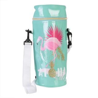 Sac fraîcheur isotherme Flamingo Summer - Bleu