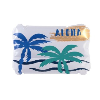 Coussin de plage gonflable Summer Aloha - Blanc