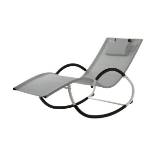 Transat rocking chair Bahia - Gris perle