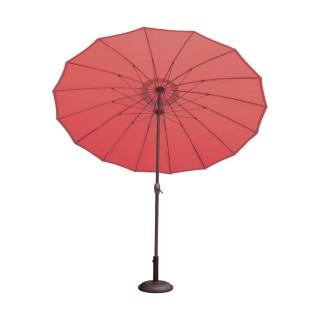 Parasol droit rond Orfeas - Diam. 270 cm - Rouge