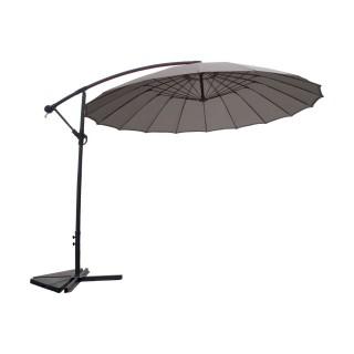 Parasol déporté rond Orfeas - Diam. 300 cm - Gris perle