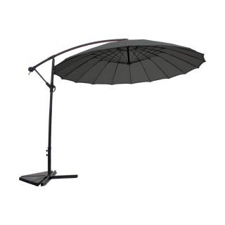 Parasol déporté rond Orfeas - Diam. 300 cm - Gris anthracite
