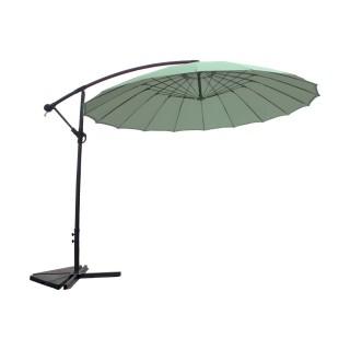 Parasol déporté rond Orfeas - Diam. 300 cm - Vert menthe
